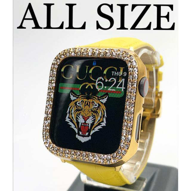 アップルウォッチダイヤカバー ベルトセット 本革レザー クロコダイルベルト  メンズの時計(腕時計(デジタル))の商品写真
