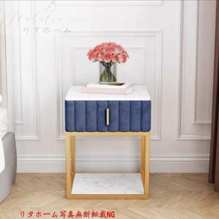 寝室用テーブル 飾り台 大理石センターテーブル サイドテーブル 収納キャビネット(ローテーブル)