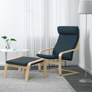 イケア(IKEA)のIKEA ポエング チェアー 足掛け付き(ロッキングチェア)