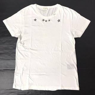 Saint Laurent - 【H】412182 サンローランパリ 16SS スタープリント Tシャツ 白 M