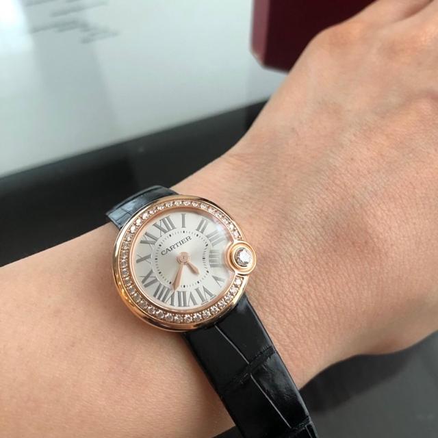 Cartier(カルティエ)のちょこさま ご専用 中古品 カルティエ バロンブラン ドウ 26mm レディースのファッション小物(腕時計)の商品写真