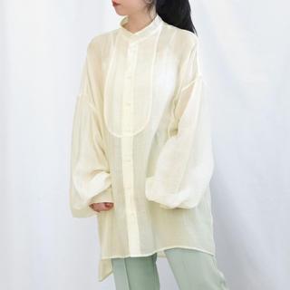 Mila Owen - 大人気!♡Richeglamour♡ シアーポプリンブザム切替えBigシャツ