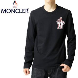モンクレール(MONCLER)の6 MONCLER ネイビー ロゴワッペン クルーネック 長袖 TシャツXL(Tシャツ/カットソー(七分/長袖))