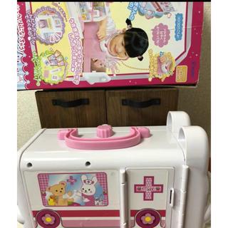 パイロット(PILOT)の☆中古 メルちゃん うさぎさんのきゅうきゅうしゃ 箱付き(知育玩具)