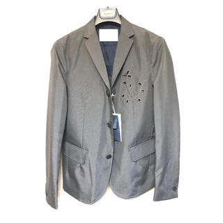 kolor - 半額以下 新品 kolor 17ss サイズ1 刺繍テーラードジャケットグレー
