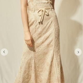 Lily Brown - リリーブラウン Lily Brown  刺繍レースマーメイドスカート