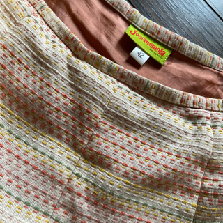 ホコモモラ(Jocomomola)のホコモモラ 総刺子 フレアースカート 42 訳ありです(ロングスカート)