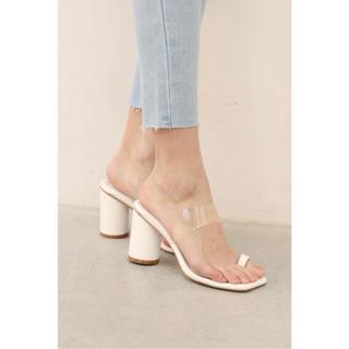 ALEXIA STAM - Clear Strap Sandals White