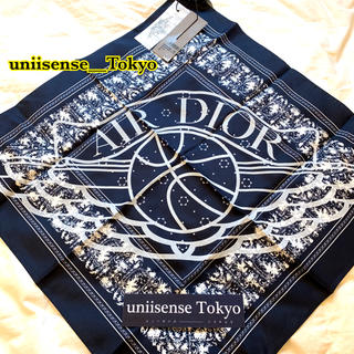 クリスチャンディオール(Christian Dior)の新作完売限定 AIR DIOR スカーフ バンダナ ネイビー JORDAN(バンダナ/スカーフ)