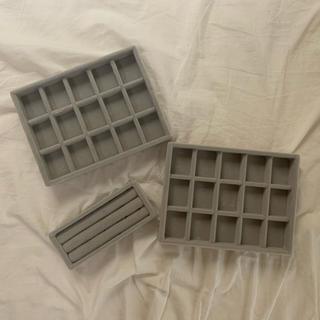 ムジルシリョウヒン(MUJI (無印良品))の無印良品 ベロア内箱仕切 3個セット(ケース/ボックス)