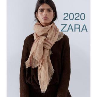 ZARA - 新品未使用 ZARA ZARA リネンストール ショール 大判