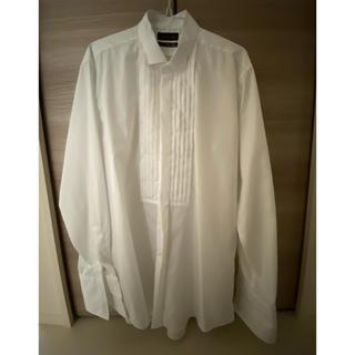 アオヤマ(青山)の新郎 タキシード用◆ダブルカフス ウィングカラーシャツ (WAF0003)  (シャツ)