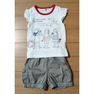 女の子 100センチセット☆ Tシャツ&ショートパンツ