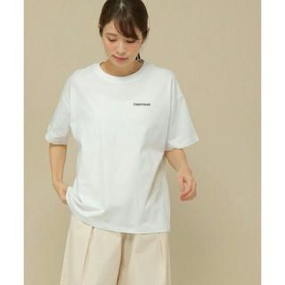 CONVERSE - 新品CONVERSE*半袖ロゴ刺繍Tシャツ*送料無料コンバース*未使用ホワイト白