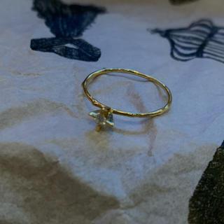 H.P.FRANCE - イロンデール K18 立て爪ダイヤモンドリング 美品
