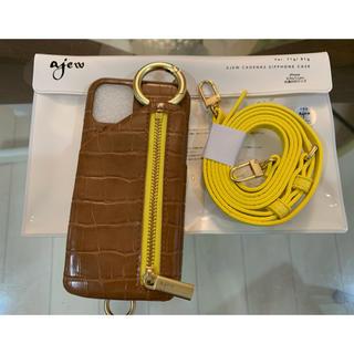 ユナイテッドアローズ(UNITED ARROWS)のajew IPHONEケース iPhone10/10S/11Pro ブラウン(iPhoneケース)