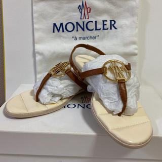 MONCLER - 本日15時迄のお値下げ 未使用品 MONCLER トングサンダル 37サイズ