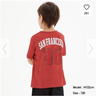 GU - 新品・未使用・タグ付き NFL4 コラボ Tシャツ 130 赤