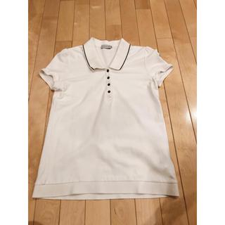 モンクレール(MONCLER)のモンクレール ポロシャツ 白 M レディース(ポロシャツ)