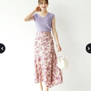Mystrada - 【新品未使用タグ付き】マイストラーダ⭐シフォンジャガード切り替えスカート