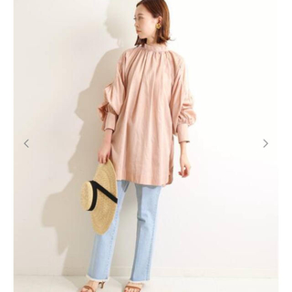 IENA - IENA LA BOUCLE コーマサテン スモックシャツ