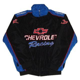 【送料無料】CHEVROLET シボレー ジャケット・ブルゾン 黒・青 XL(ブルゾン)