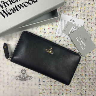 Vivienne Westwood - Vivienne Westwood ヴィヴィアン 正規品 長財布 無地 ブラック