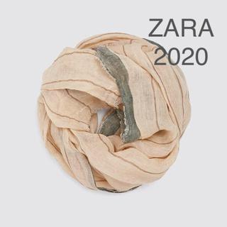 ZARA - 新品 タグ付き ZARA ザラ リネン 麻 大判 ストール ショール