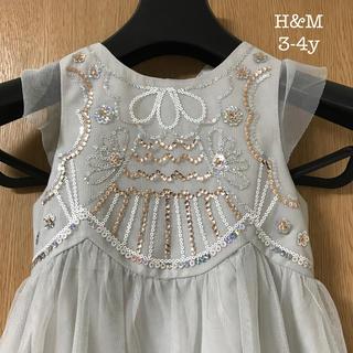 H&M - H&M チュールドレス 3-4y