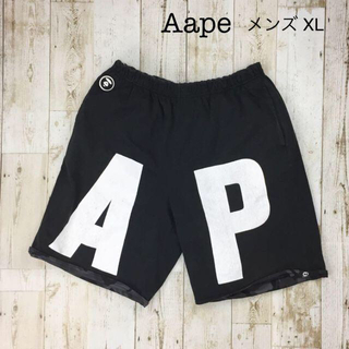 A BATHING APE - AAPE リバーシブルスウェットショーツ BIG ビックサイズ XL