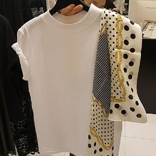 ZARA - スカーフつき Tシャツ トップス