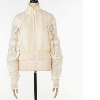 mame - mame white ニット セーター