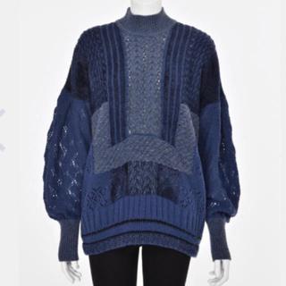 mame - mame ブルー ニット セーター