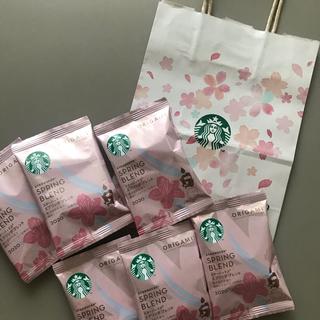 Starbucks Coffee - スターバックス オリガミ スプリングブレンド 6個 紙袋付き
