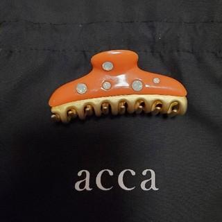acca - 新品‼️ acca アッカ ヘア クリップ オレンジ  スワロフスキー 乳白色