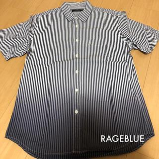 RAGEBLUE - RAGEBLUE 半袖ストライプシャツ