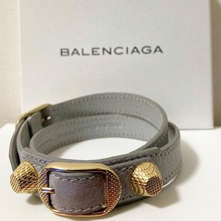 バレンシアガ(Balenciaga)のバレンシアガ レザーブレスレット ライトグレー(ブレスレット/バングル)
