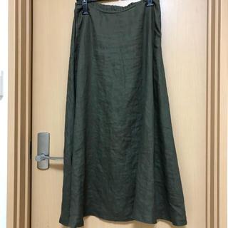ムジルシリョウヒン(MUJI (無印良品))の無印良品  リネン フレアースカート(ロングスカート)