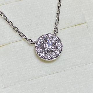 4℃ - 4℃  プラチナ ダイヤ ネックレス 0.11ct 現行品 極美品