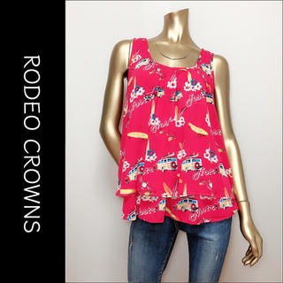 RODEO CROWNS WIDE BOWL - RODEO CROWNS ノースリーブ フレア トップス♡ヒス ungrid