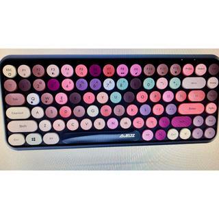 タイプライター風 カラフルなBluetoothキーボード