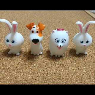 ディズニー(Disney)のディズニー ペット ソフビ人形 4体セット(キャラクターグッズ)