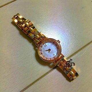 サマンサティアラ(Samantha Tiara)のサマンサティアラ ゴールド ハート デザイン Rチャーム 腕時計 正常稼働品(腕時計)