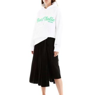 サカイ(sacai)のsacai サカイ 19AW アシンメトリースカート ホワイト 19-04542(ロングスカート)