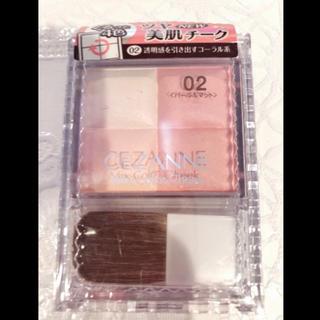CEZANNE(セザンヌ化粧品) - セザンヌ ミックスカラーチーク 02 コーラル系(1コ入)新品