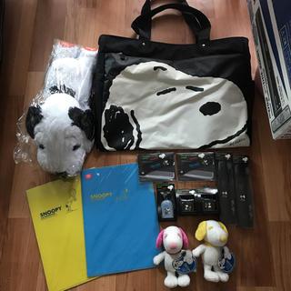 スヌーピー(SNOOPY)のスヌーピー 旅行バッグ 買い物バッグ 歯ブラシ ボストンバック ぬいぐるみ (その他)