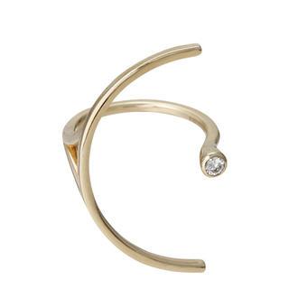 エストネーション(ESTNATION)の美品 ヒロタカ 一粒ダイヤモンドリング ホワイトゴールド hirotaka(リング(指輪))