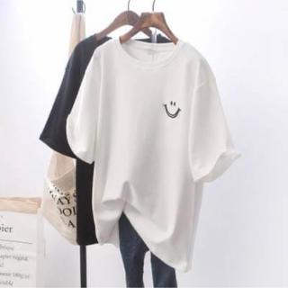 オーバーサイズ ビックシルエット ニコちゃん スマイル Tシャツ
