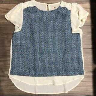 ミーア(MIIA)のMIIA シアー ツイード ブラウス(Tシャツ(半袖/袖なし))