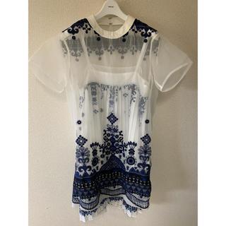 sacai - 【定価12万】sacai 17ss トライバルレースドレス 刺繍ワンピース